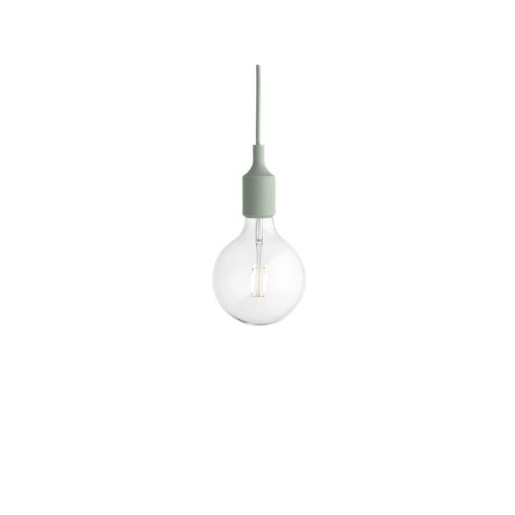 E27 socket lamp LED - light green