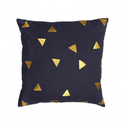 Cushion triangle blue 40 x 40 cm