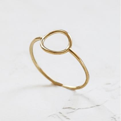 Bague - Hollow circle ring gold Medium
