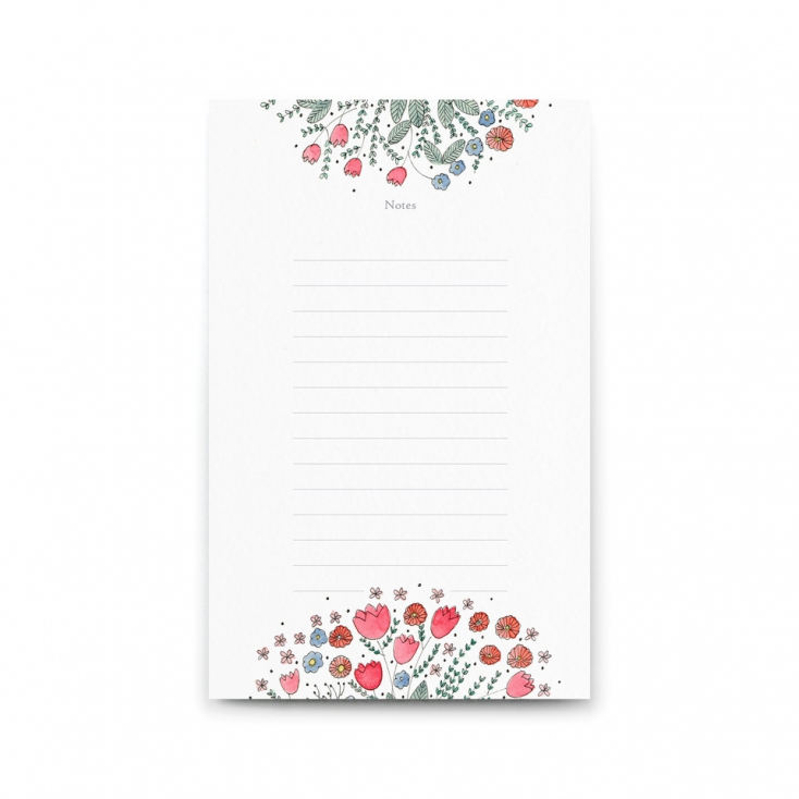 Bloc notes corolle blanche