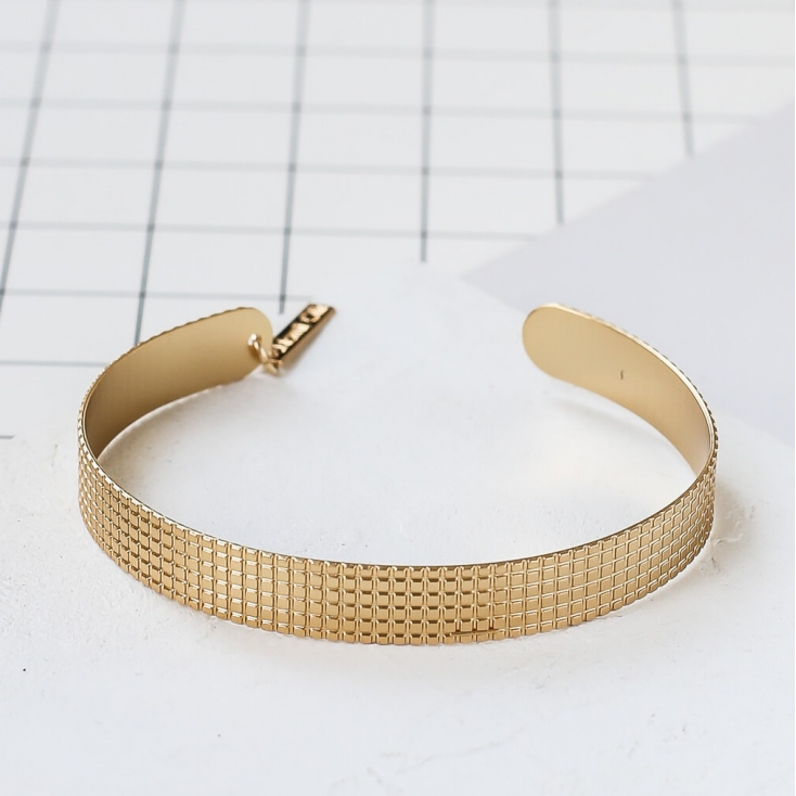 Bracelet - Grid bracelet gold