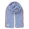 Foulard Flourish - Lichen blue