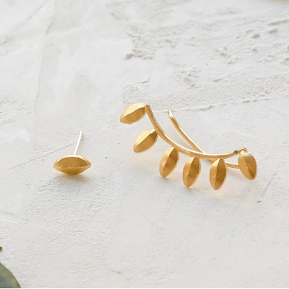 Boucles d'oreilles - Yucca ear climbers gold