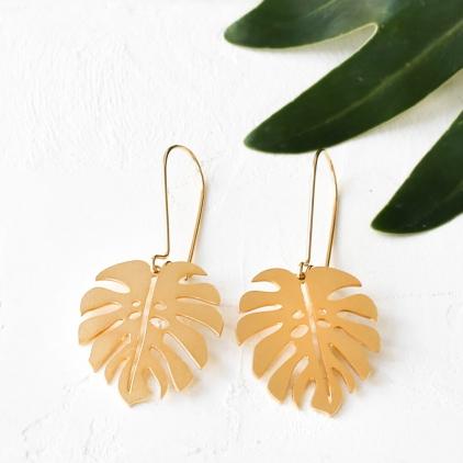 Boucles d'oreilles - Jungle earrings gold