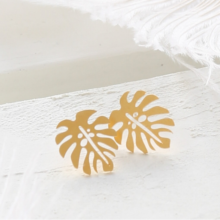 Boucles d'oreilles - Jungle post earrings gold