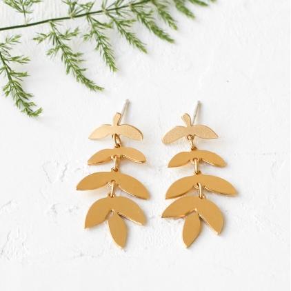 Boucles d'oreilles - Foliage earrings gold