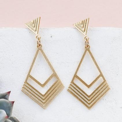 Boucles d'oreilles - Long california Earrings gold