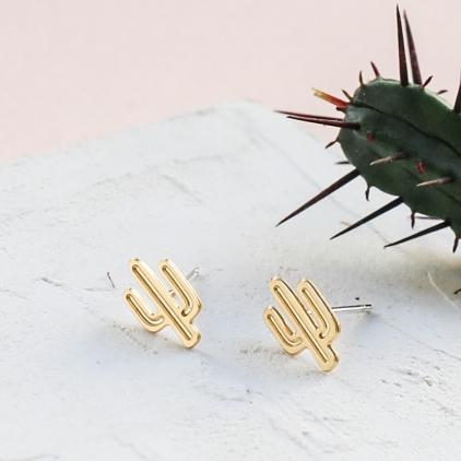 Boucles d'oreilles - Cactus earrings gold