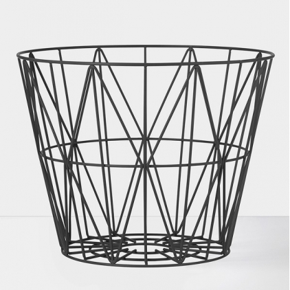 Wire basket large 60 x 45 cm - black