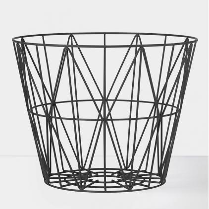 Wire basket large 60 x 45 cm - black