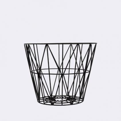 wire basket small 40 x 35 cm - black