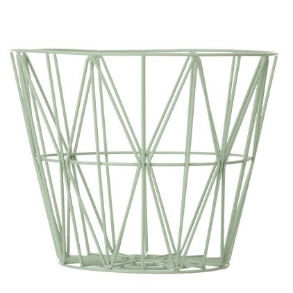 wire basket medium 50 x 40 cm - grey