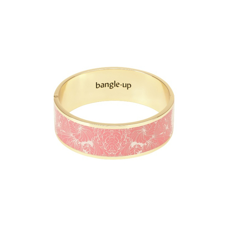 Bracelet Cancan 2cm - Blush pink / sand white
