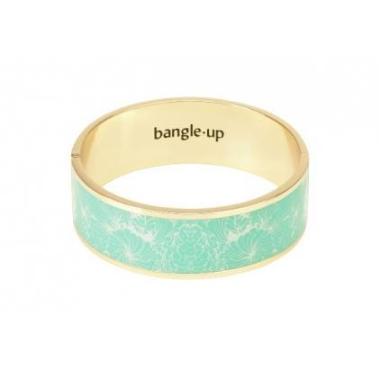 Bracelet Cancan 2cm - Pool blue / sand white