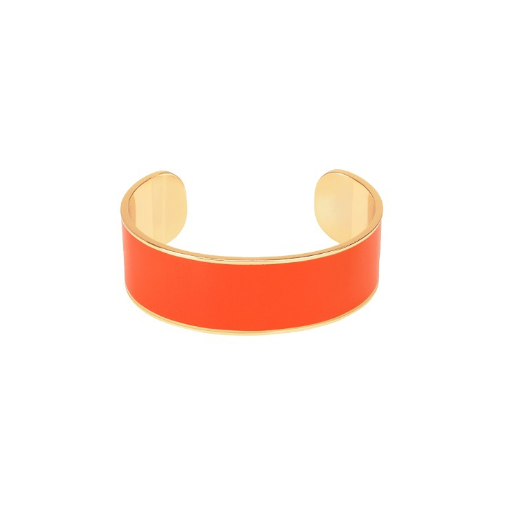 Jonc Bangle ajustable 2cm - Tangerine