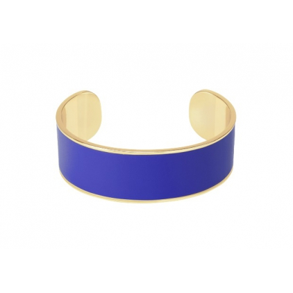 Jonc Bangle ajustable 2cm - Bleu faïence