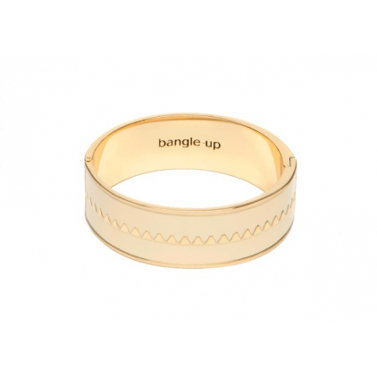 Bracelet Bollystud 2cm métal doré - Blanc sable