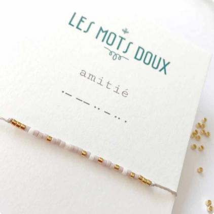 Bracelet Les mots doux - Amitié rose