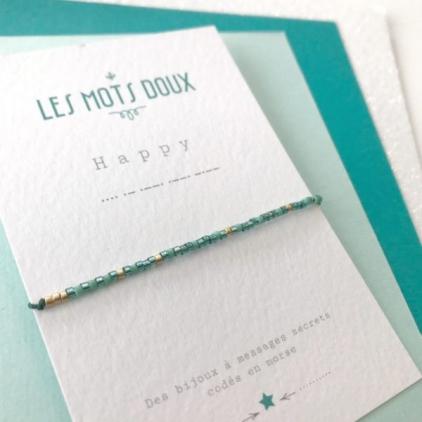 Bracelet Les mots doux - Happy