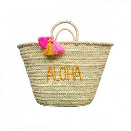 Panier mum brodé pour adulte - Aloha