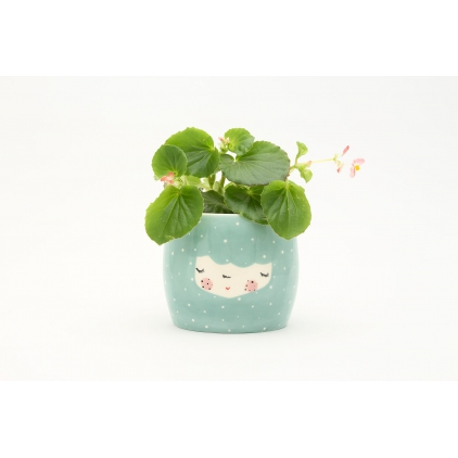 Character planter dusty mint