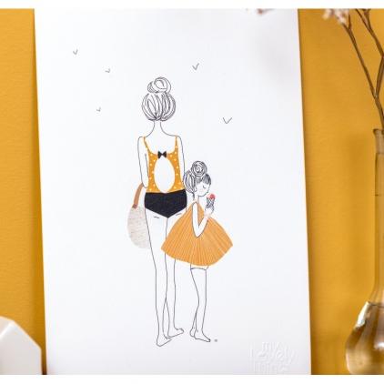 Affiche A4 Balade fille