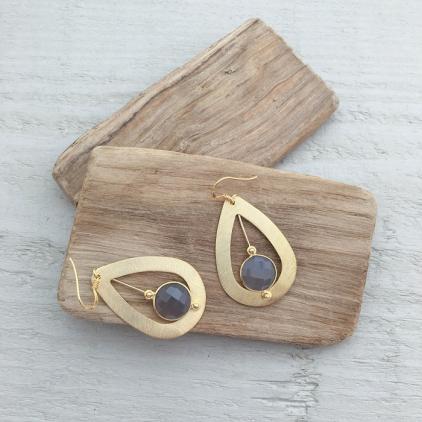 Boucles d'oreilles Moïra grises - 10234 amulette