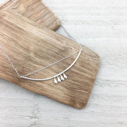 Collier Romane argenté - 10268 amulette