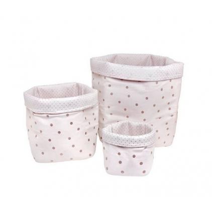 Panier big basket print confetti rose/cuivre