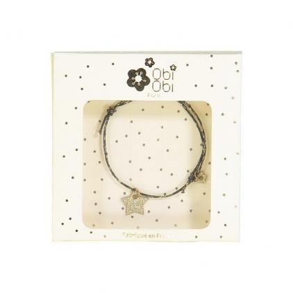 Bracelets Star - noir étoile