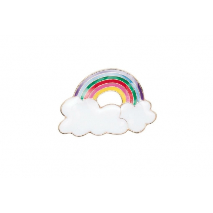 Pin's arc en ciel multicolore
