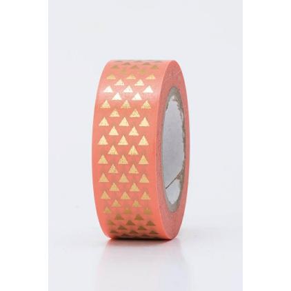 Tape triangles or sur fond orange