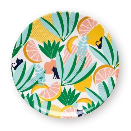 Assiettes jungle - banane citron