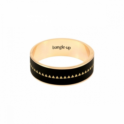 Bracelet Bollystud 2cm métal doré - Noir Taille 1