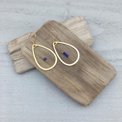 Boucles d'oreilles Maria lapis lazuli 10317 Amulette