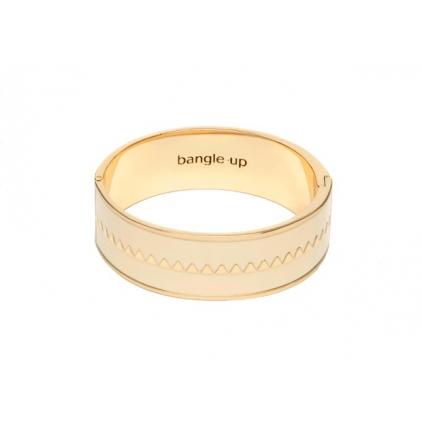 Bracelet Bollystud 2cm métal doré - Blanc sable Taille 2
