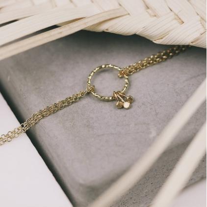 Bracelet Dalila rond plaqué or - 10443 Amulette