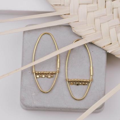 Boucles d'oreilles Hadda plaqué or - 10440 Amulette