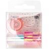 Set tape miroir mini - Blanc et rose