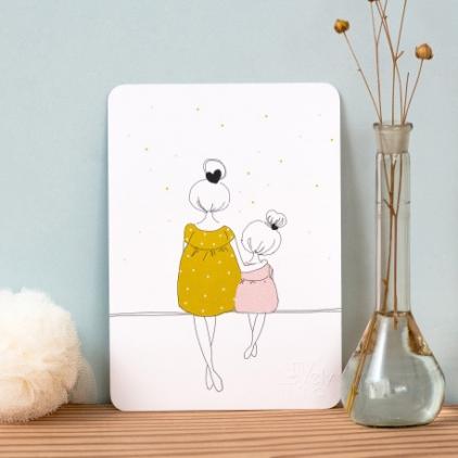 Carte Mum & Girl summer