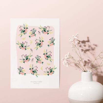 Affiche A3 Tapis fleuri