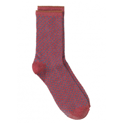 Chaussettes Dina Small Dots Collection - Raspberry wine 39/41