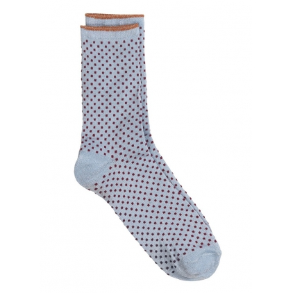Chaussettes Dina Small Dots Collection - Chambray blue 37/39