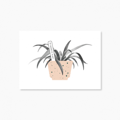 Carte Favorite plant