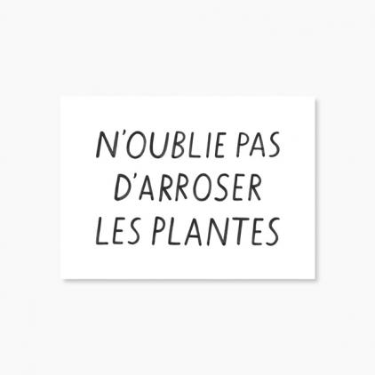 Carte N'oublie pas d'arroser les plantes