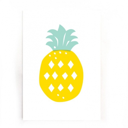 Postcard A6 - Pineapple pastel