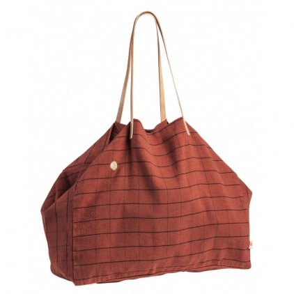 Shopping bag Oscar Terracotta