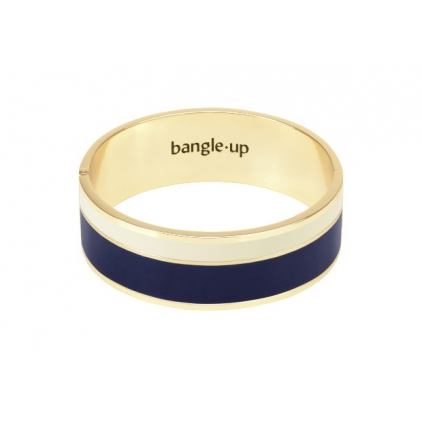 Bracelet Vaporetto two-tone 2cm - Night blue / sand white