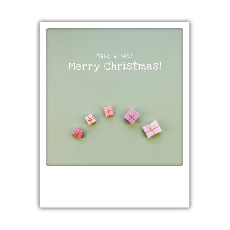 Carte postale Make a wish merry christmas XM0188EN
