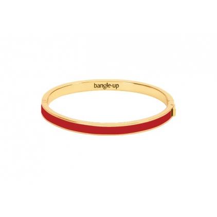 Bracelet Color block avec fermoir métal doré 0,5cm - Rouge velours